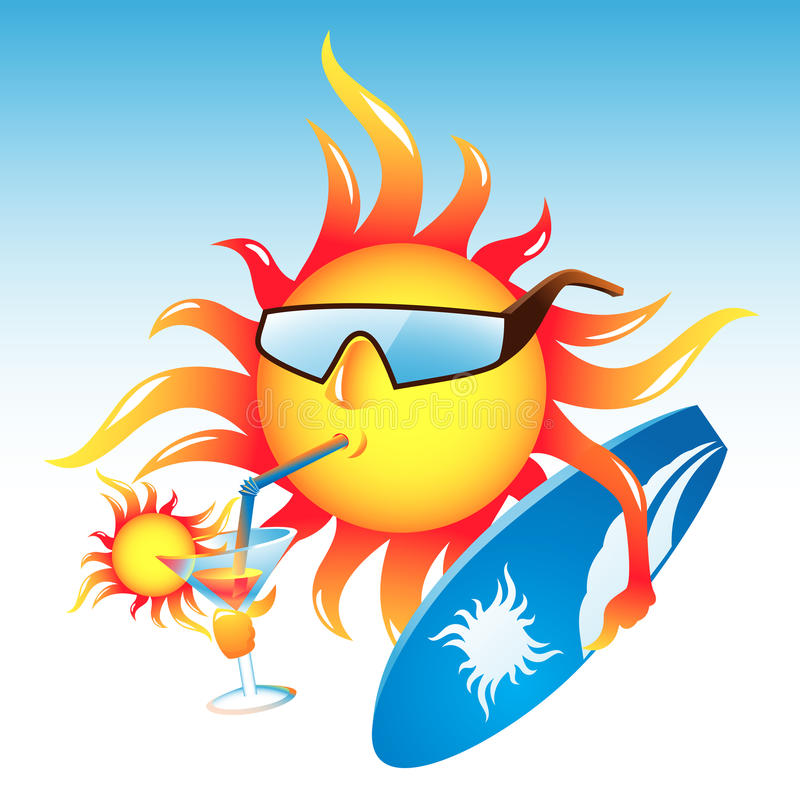 koktajlu słońce ilustracji