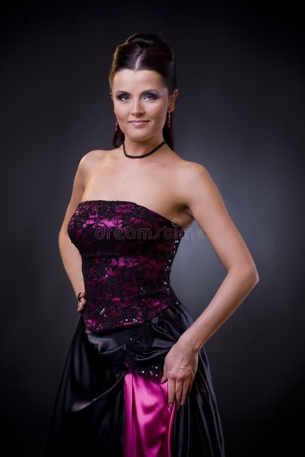 koktajlu sukni kobieta zdjęcie royalty free