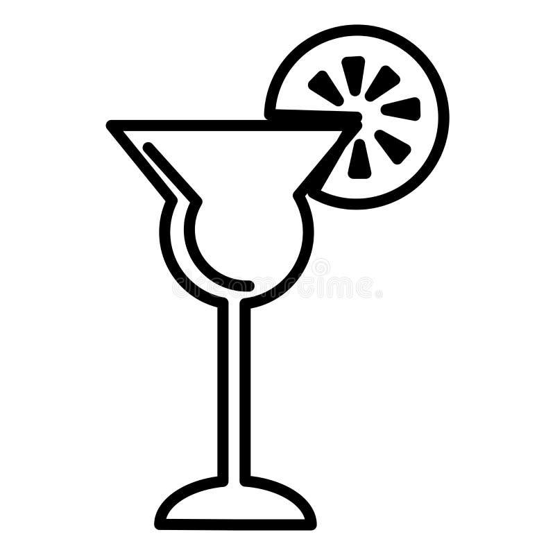 Koktajlu szkła ikony wektoru znak i symbol odizolowywający na białym tle, koktajlu szkła logo pojęcie ilustracji