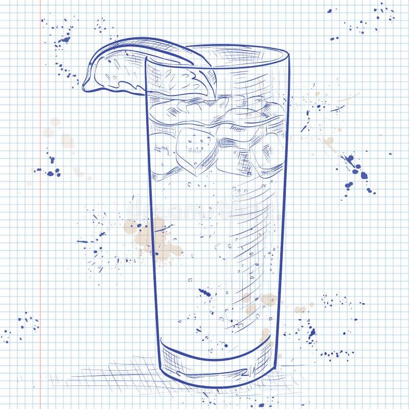 Koktajlu zmrok 'N' Burzowy na notatnik stronie royalty ilustracja