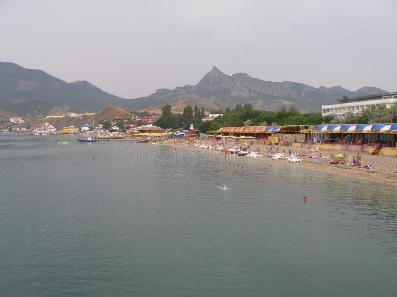 Koktebel strand arkivfoto