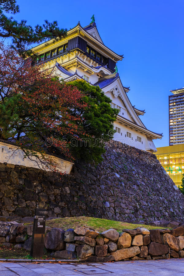 Kokura castle in Kitakyusho. Kitakyushu, Japan - November 13 2013: Kokura castle was built by Hosokawa Tadaoki in 1602, property of the Ogasawara clan between royalty free stock photography