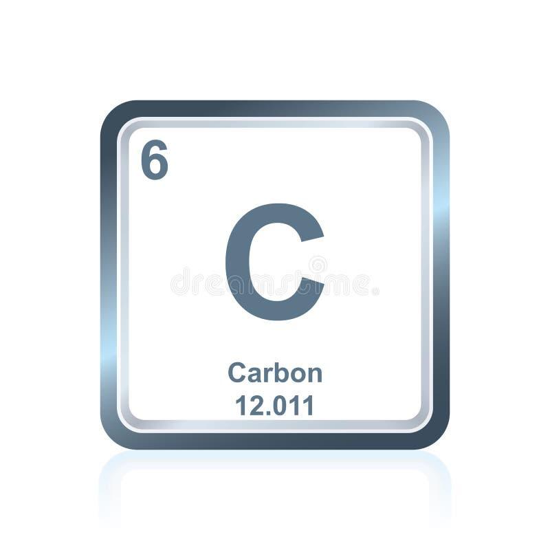 Kol för kemisk beståndsdel från den periodiska tabellen royaltyfri illustrationer