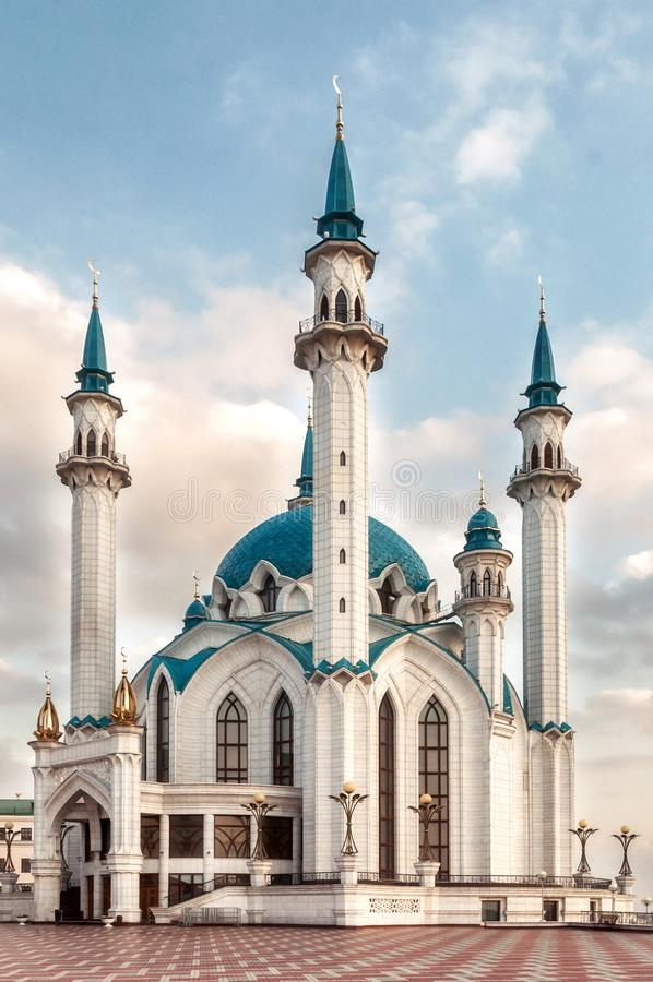 Kol Sharif meczet w Kazan Kremlin, Tatarstan w Rosja fotografia royalty free
