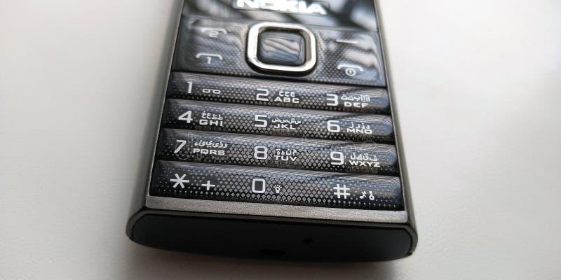 Kol-stil telefontangentbord arkivfoton