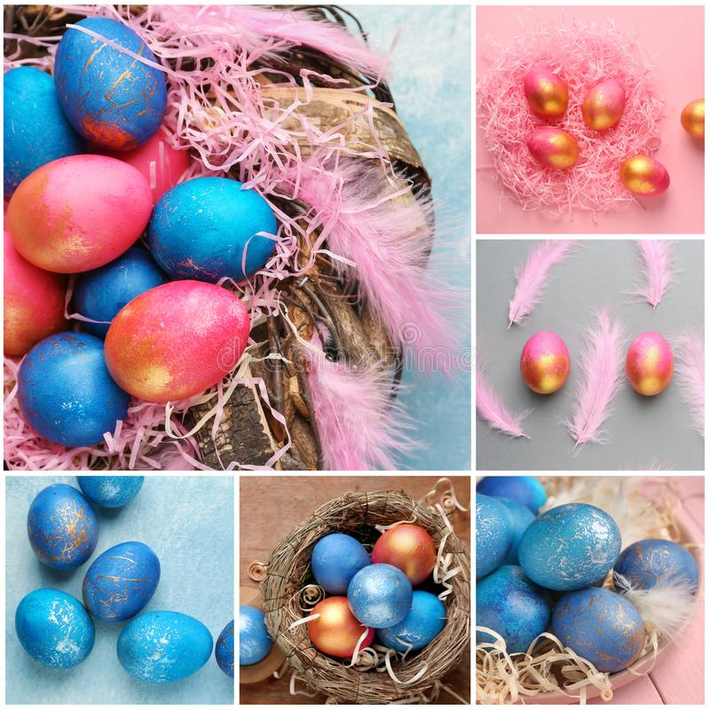 Kolaż fotografie dla Wielkanocnego świętowania obraz royalty free