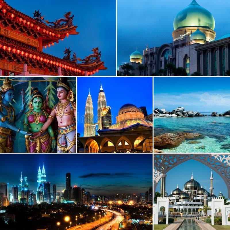 Kolaż Malezja wizerunki fotografia stock