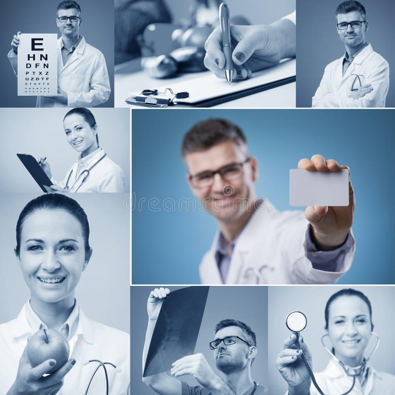 Kolaż medyczni wizerunki zdjęcia royalty free