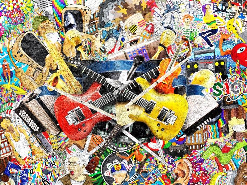 Kolaż muzyka zdjęcie royalty free