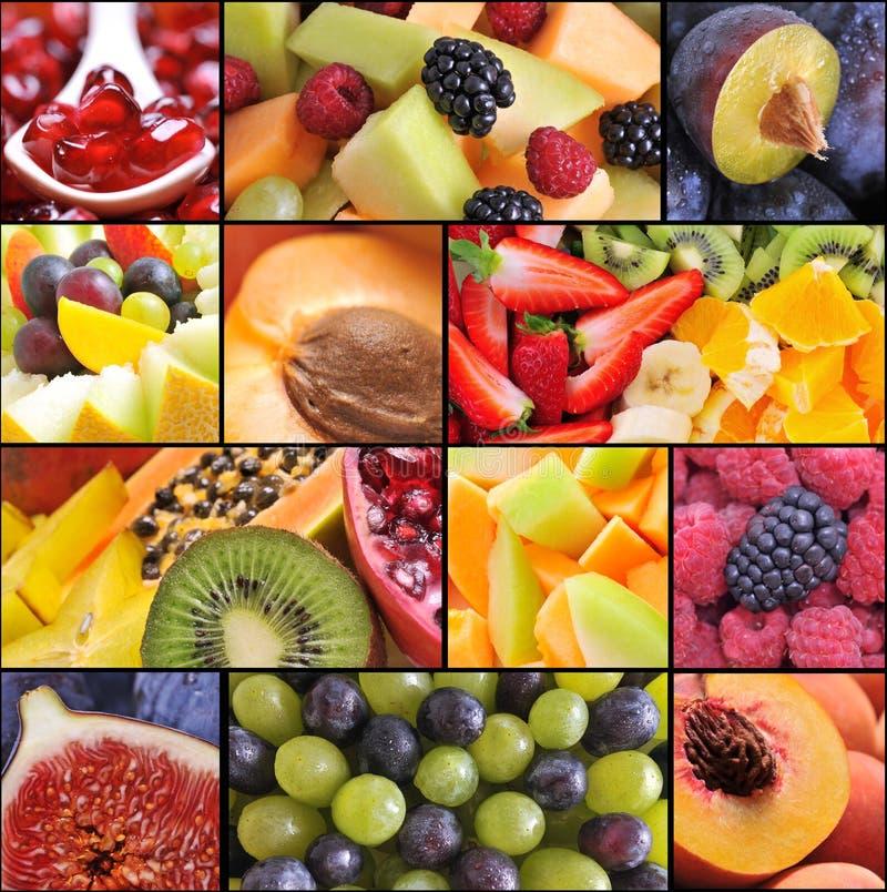 kolaż owoc zdjęcia stock