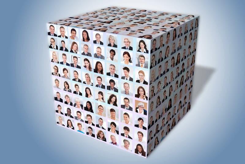 Kolaż różnorodni ludzie biznesu zdjęcia royalty free