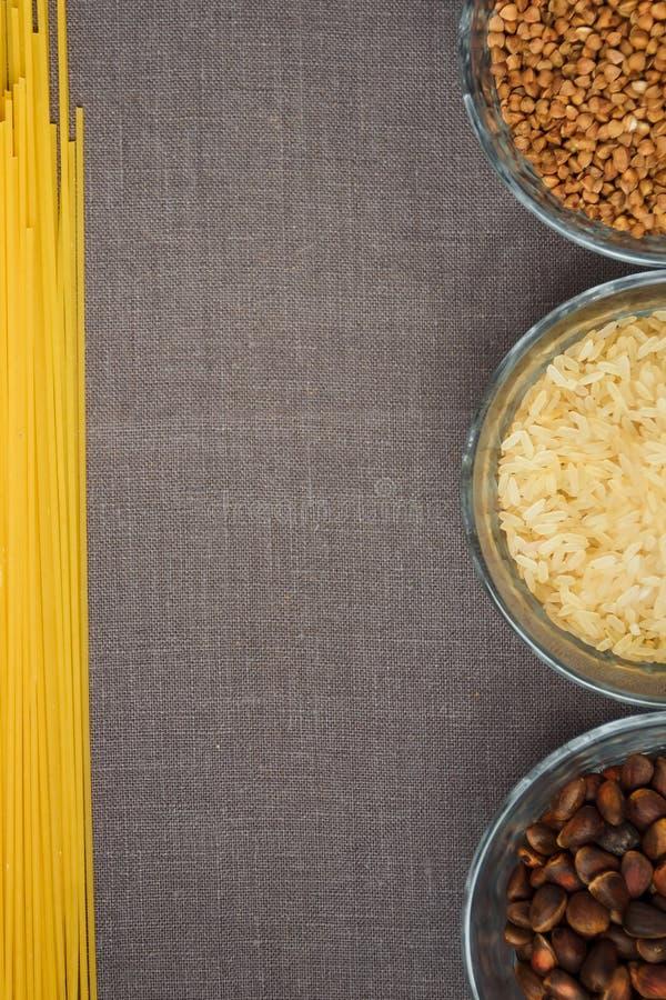 Kolaż różnorodni posiłków tła fotografia royalty free