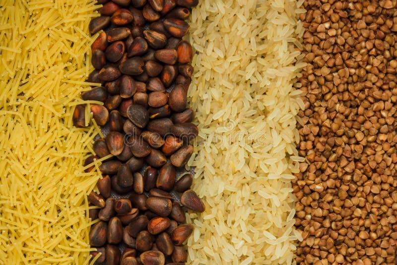 Kolaż różnorodni posiłków tła obrazy stock