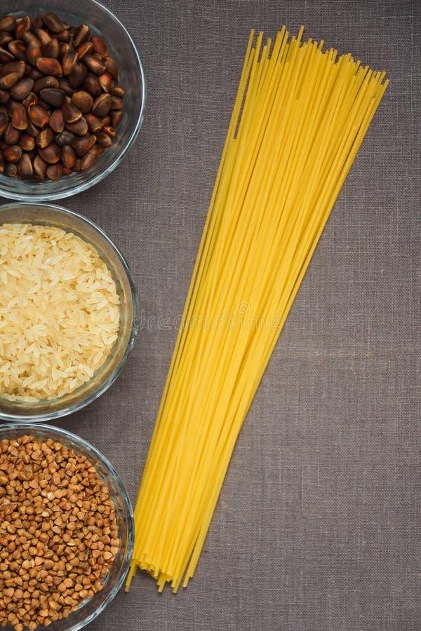 Kolaż różnorodni posiłków tła zdjęcia royalty free