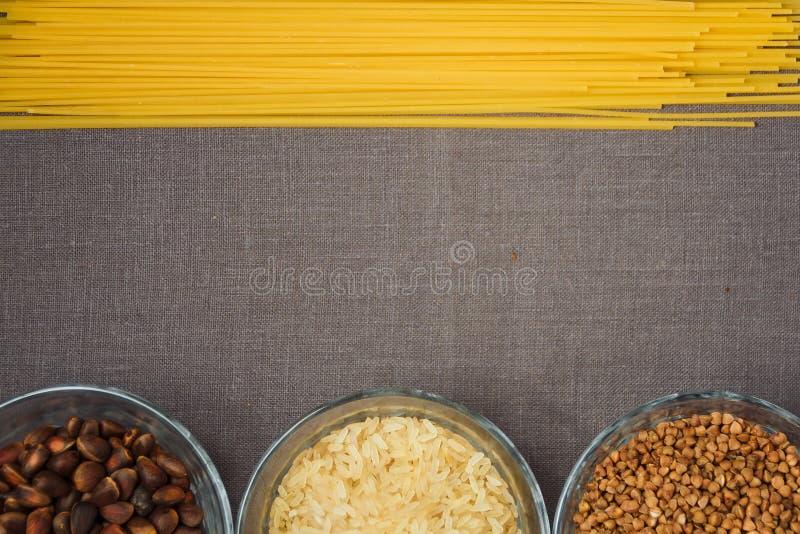 Kolaż różnorodni posiłków tła obraz stock