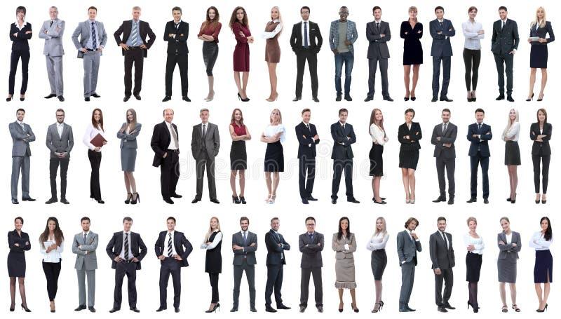 Kolaż różnorodność ludzie biznesu stoi z rzędu obrazy royalty free