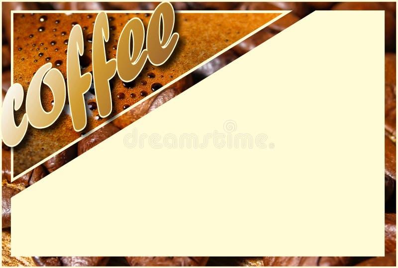 Kolaż z kawowymi szczegółami ilustracja wektor
