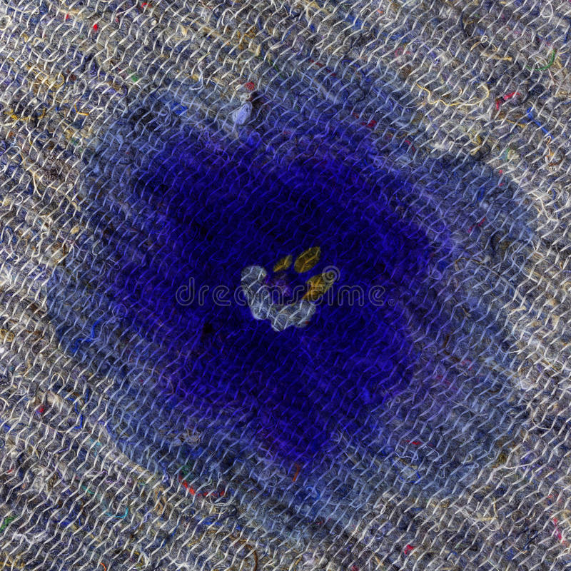Kolaż z kwiatami i filc wzorem zdjęcia royalty free