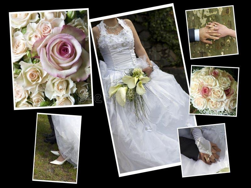 kolażu ślub zdjęcie royalty free
