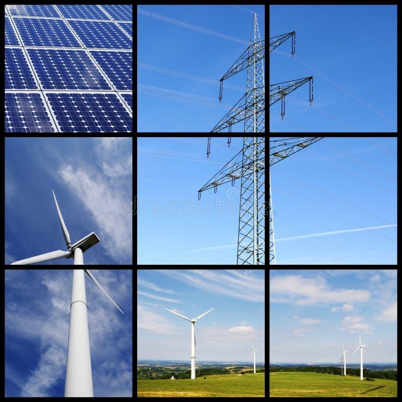 kolażu energii zieleń zdjęcia stock