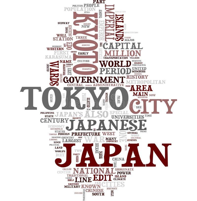 kolażu Japan słowo ilustracji