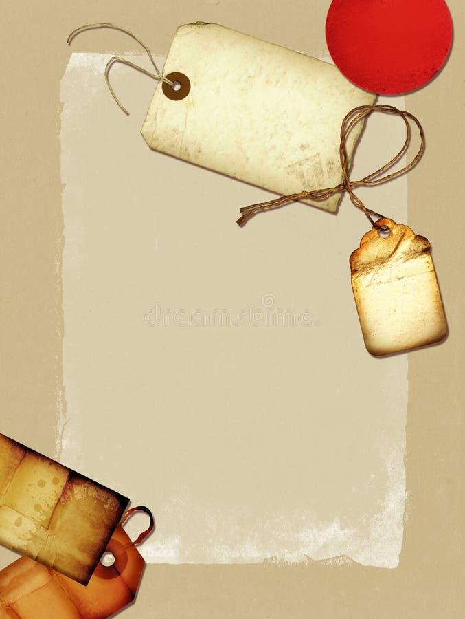 kolażu rocznik ilustracja wektor
