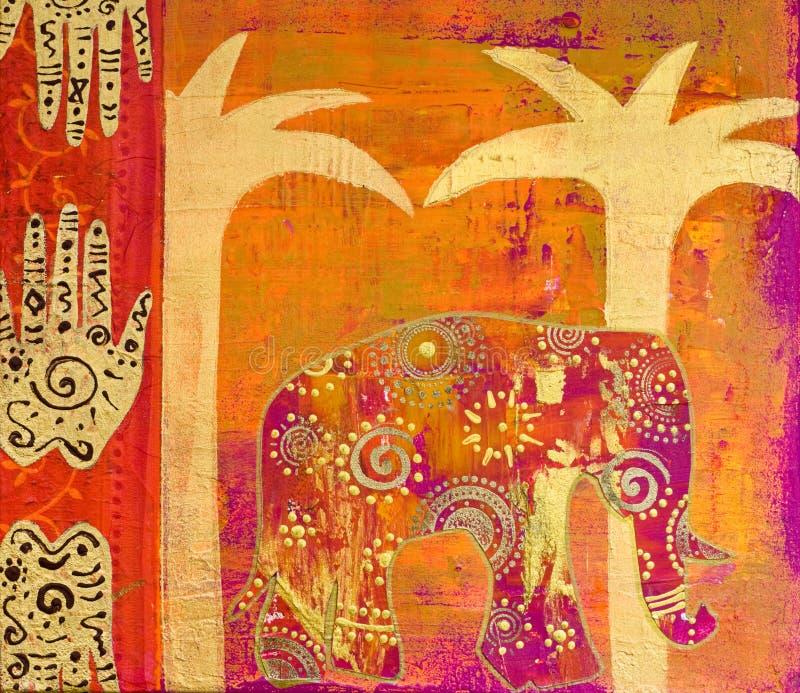 kolażu słoń royalty ilustracja