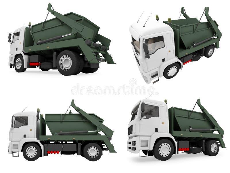 kolażu usyp odizolowywająca ciężarówka ilustracji