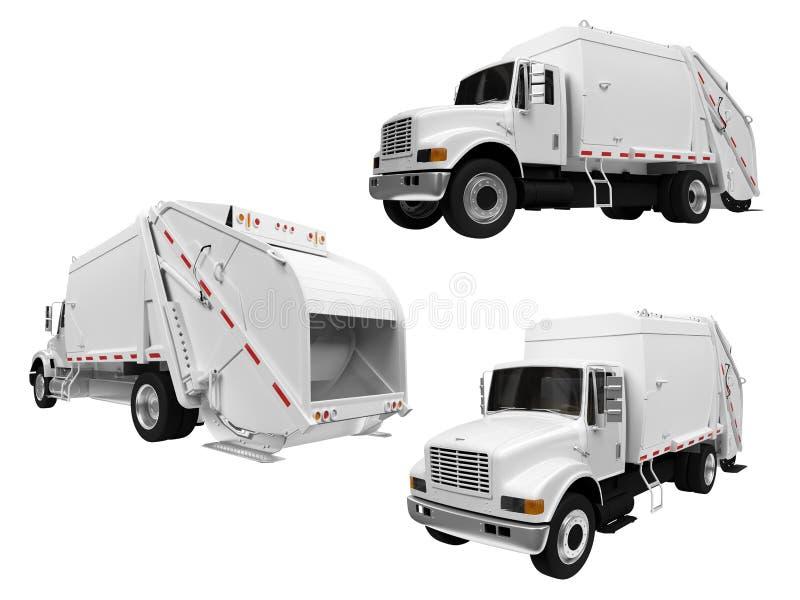 kolażu usyp odizolowywająca ciężarówka royalty ilustracja