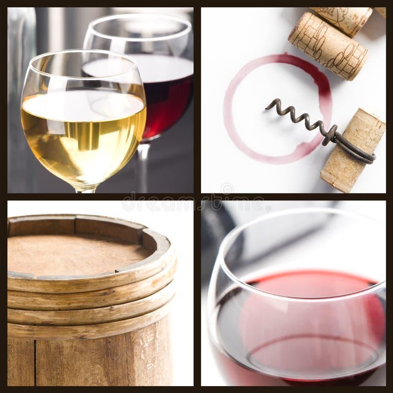 kolażu wino zdjęcia royalty free