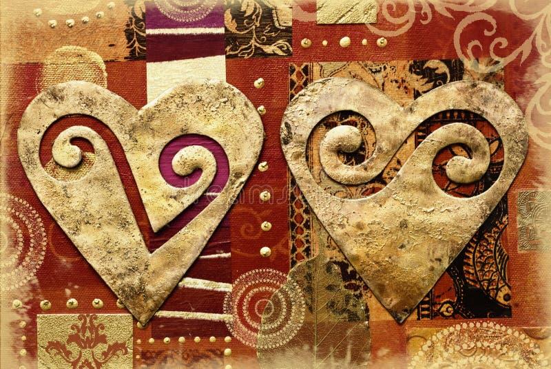 kolaży serca ilustracji