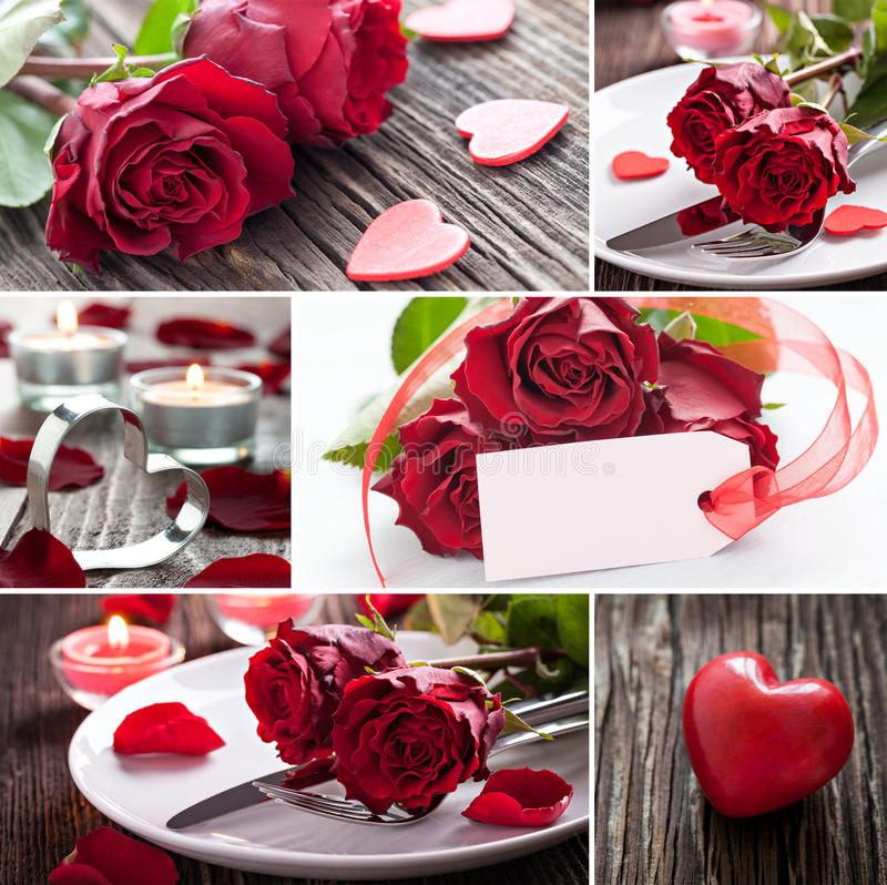 Kolaży valentines dzień fotografia royalty free