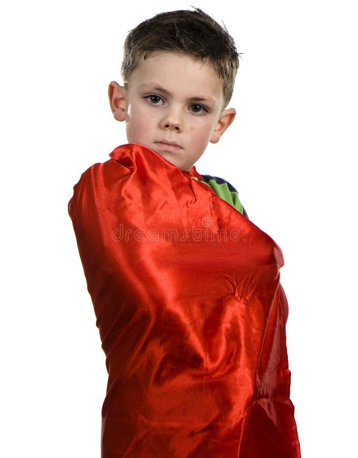 Kolaci Bohatera chłopiec fotografia royalty free