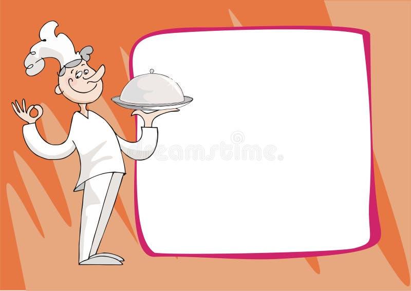 kolacja kucbarskie ofert royalty ilustracja