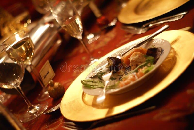 kolacja płytki fotografia royalty free