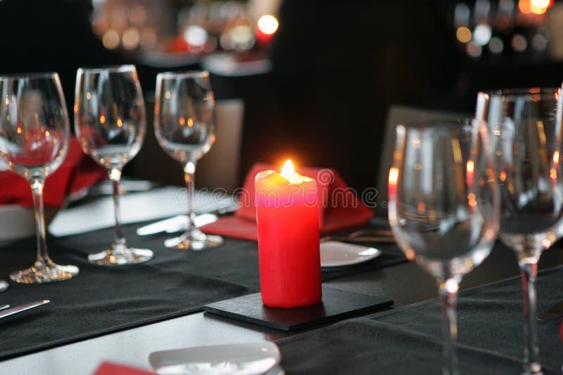 kolacja przy świecach obrazy stock