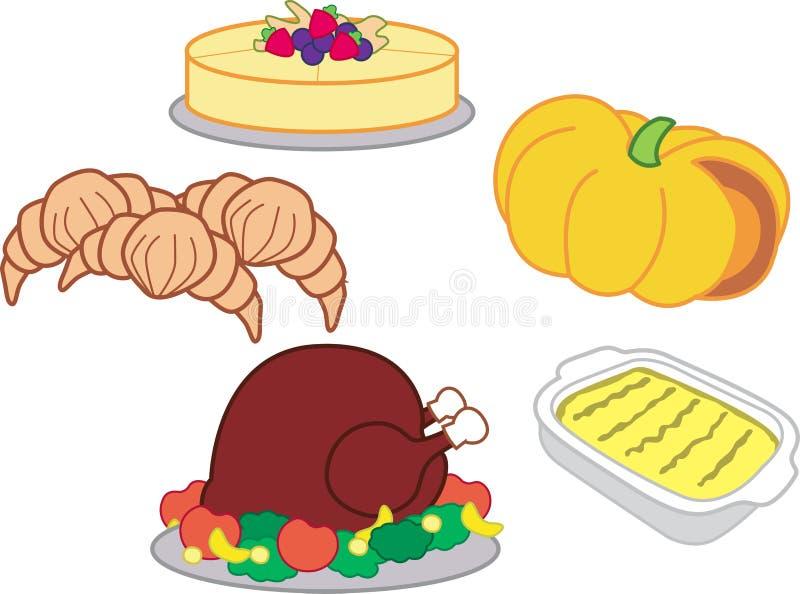 kolacja w Święto dziękczynienia royalty ilustracja
