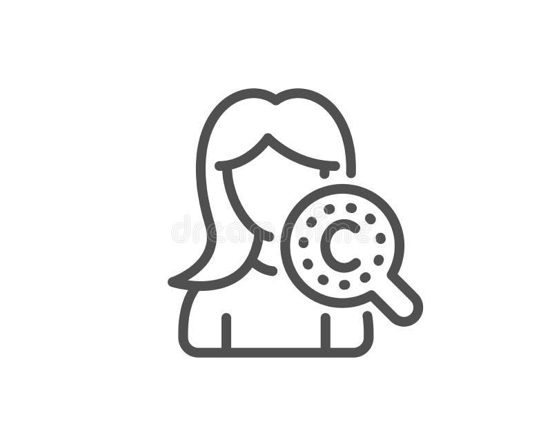 Kolagen sk?ry linii ikona Kremowy opieka znak Kosmetyczna p?ukanka wektor royalty ilustracja