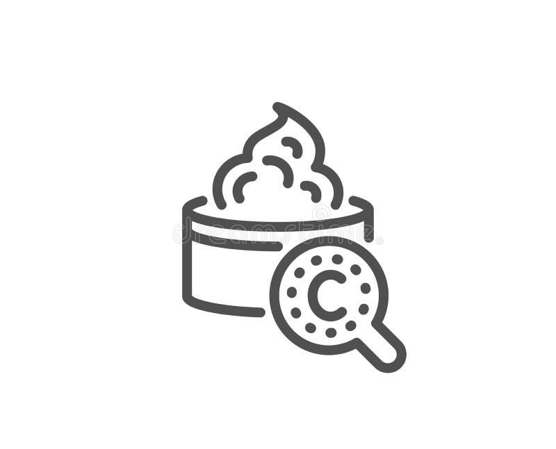 Kolagen sk?ry linii ikona Kremowy opieka znak Kosmetyczna p?ukanka wektor ilustracji