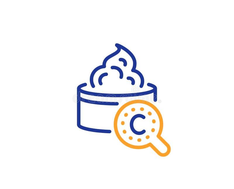 Kolagen sk?ry linii ikona Kremowy opieka znak Kosmetyczna p?ukanka wektor ilustracja wektor