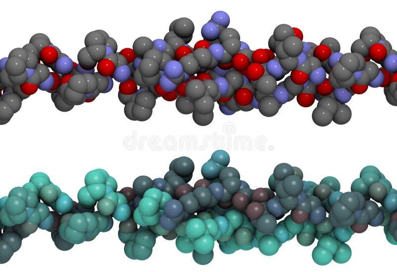 kolagenu helix struktury trójka royalty ilustracja