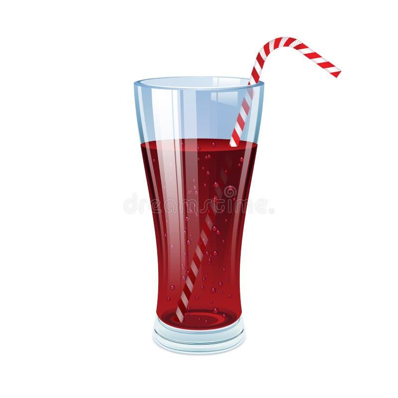 Kolaglas met cocktailstro vector illustratie