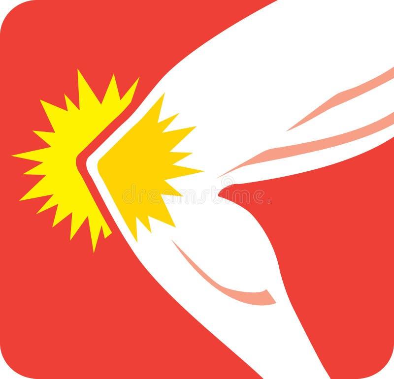 Kolano Bólowa ikona royalty ilustracja