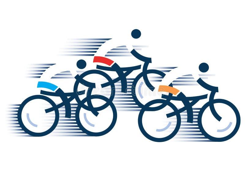 Kolarstwo drogi cykliści ilustracja wektor