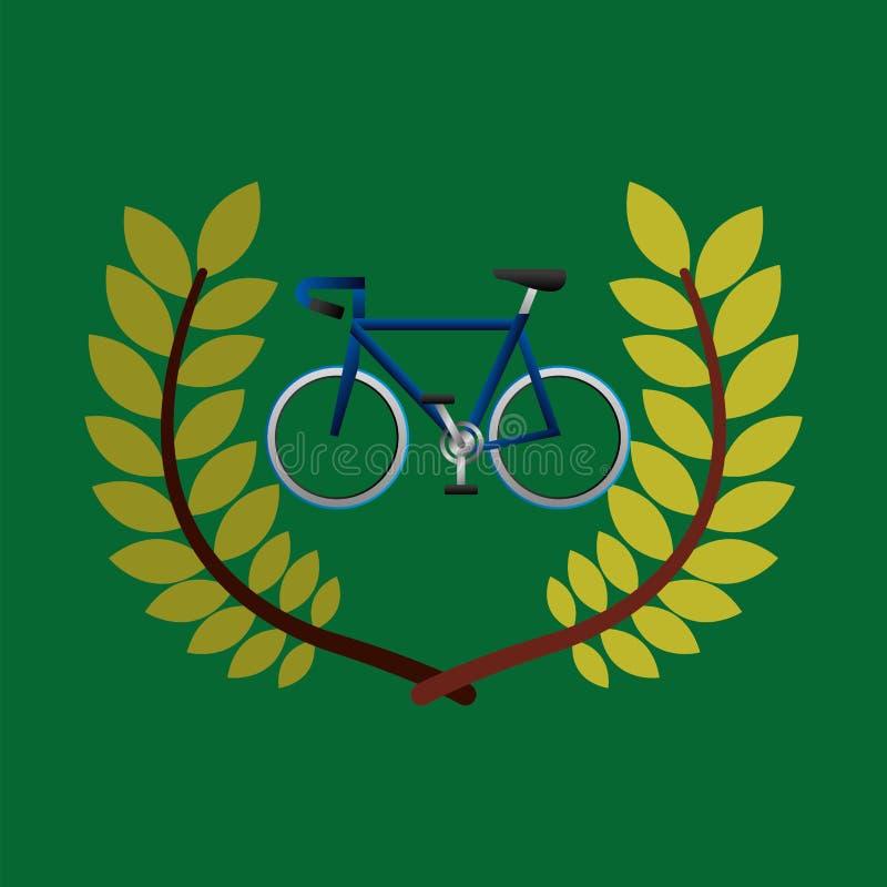 Kolarstwo olimpiad emblemat ilustracji