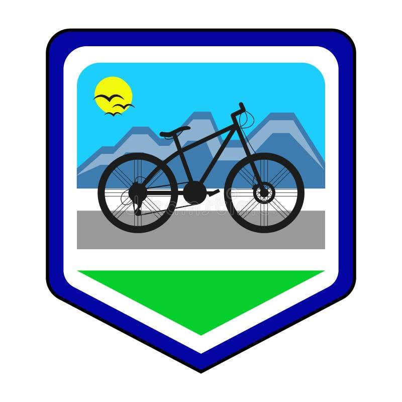 Kolarstwo społeczności logo obraz stock