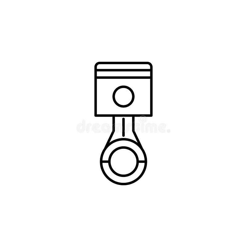 Kolben, Autoentwurfsikone Kann für Netz, Logo, mobiler App, UI, UX verwendet werden vektor abbildung