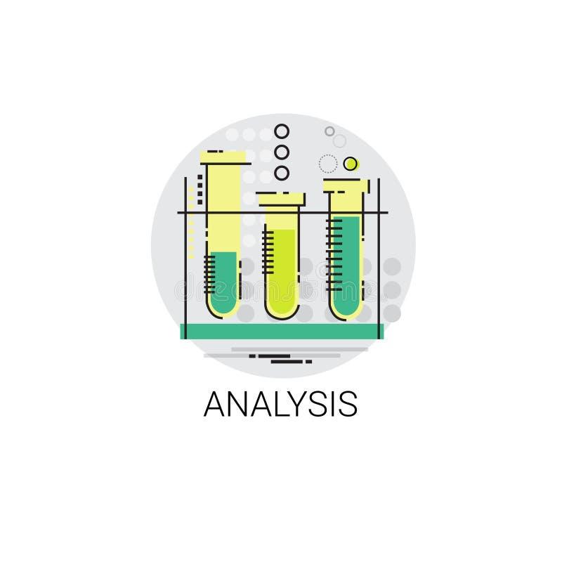 Kolbiasta chemii reakci analizy eksperymentu ikona ilustracja wektor