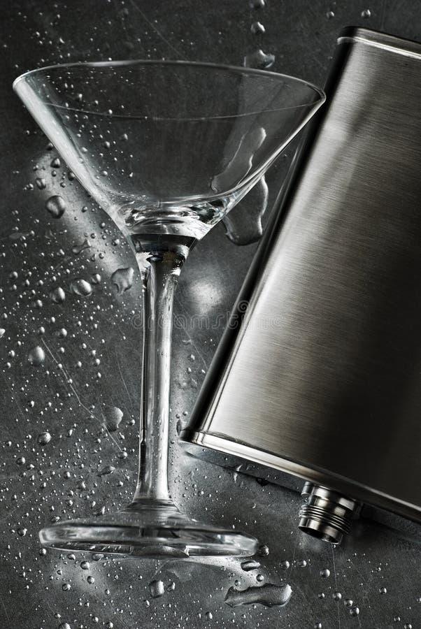 kolby szklane Martini srebra zdjęcie stock