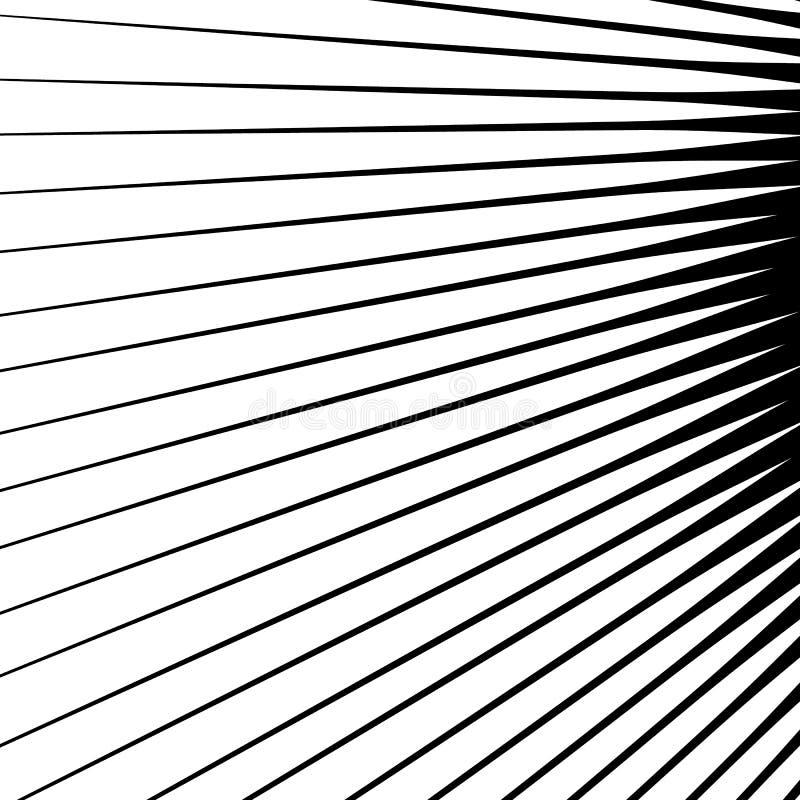 Kolce rozprzestrzenia od środkowego punktu Geometryczna ilustracja S ilustracji